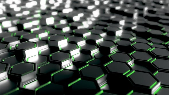 Thumbnail for Futuristic Hexagonal Black and Green Figures