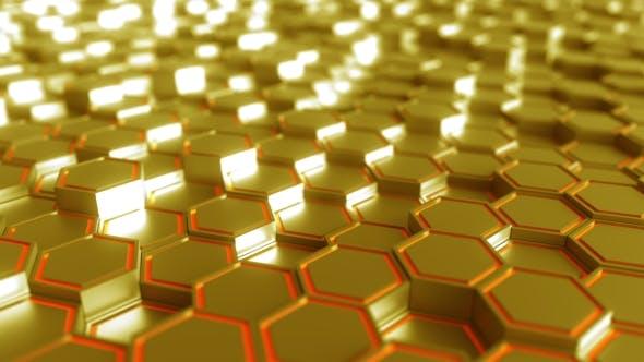 Thumbnail for Futuristic Hexagonal Golden Figures