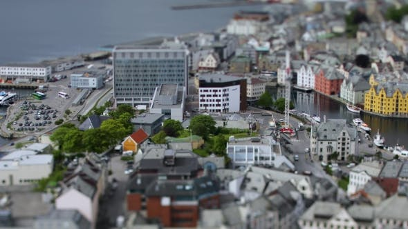 Cover Image for Aksla at the City of Alesund Tilt Shift Lens, Norway