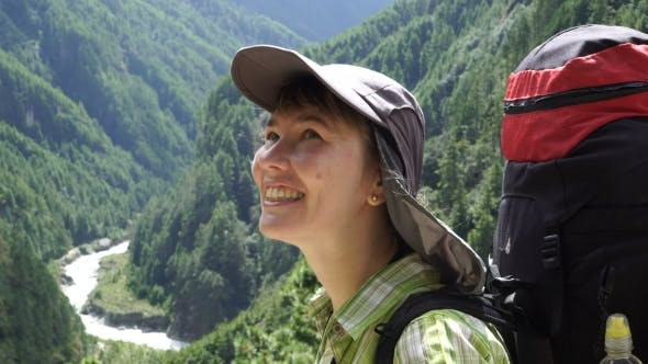 Thumbnail for Portrait of a Girl with a Backpack