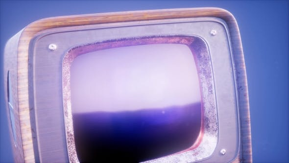 Thumbnail for Retro TV on Blue Sky