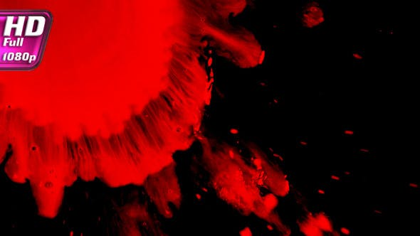 Thumbnail for Splashes Of Blood Red Liquid