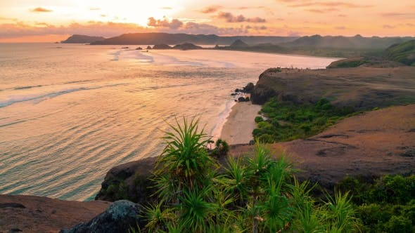 Thumbnail for Sunset at the Merese Hill, Lombok, Indonesia