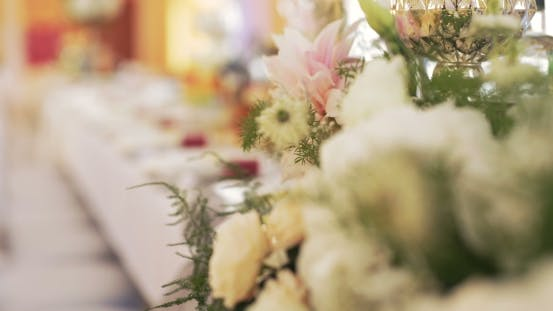 Thumbnail for Table Decorations at a Wedding