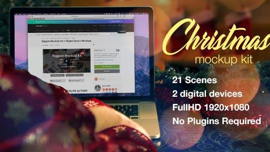 Thumbnail for Christmas Mockup Kit