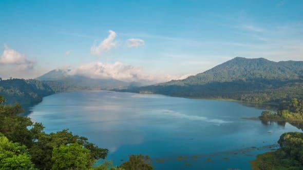 Thumbnail for Beatiful View Over the Lake. Lake and Mountain View From a Hill, Buyan Lake, Bali