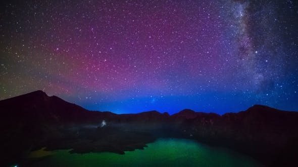 Thumbnail for Milky Way Above Lake Segara Anak