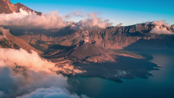 Cover Image for The Crater of Mt.Rinjani in Lombok Island, Indonesia