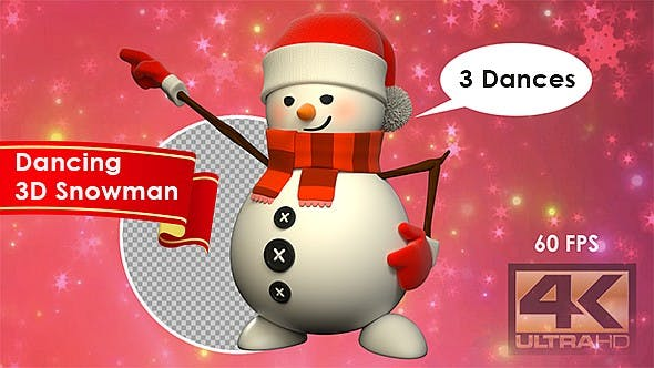 Thumbnail for Dancing 3D Snowman - 3 Pack