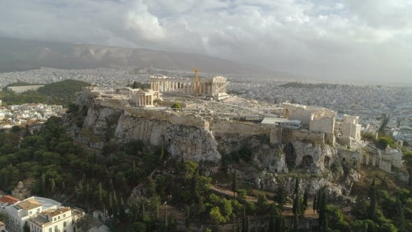Acropolis of Athens Ancient Citadel in Greece