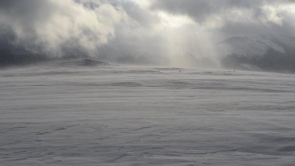 Thumbnail for Snowstorm in Winter Mountains