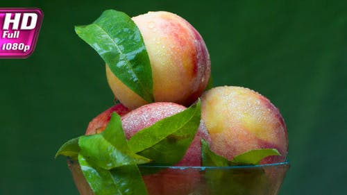 Glass Plate With Selected Peaches