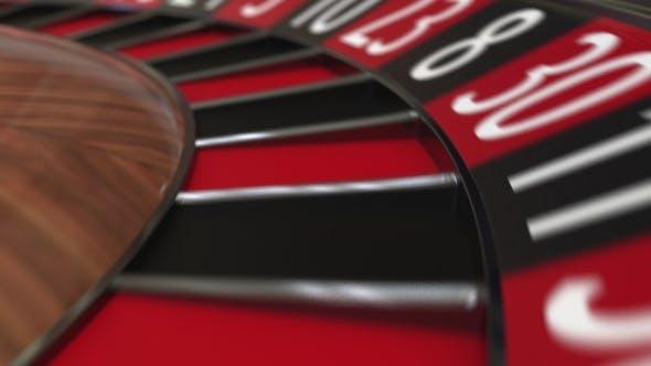 Thumbnail for Casino Roulette Wheel Ball Hits 28 Twenty-eight Black