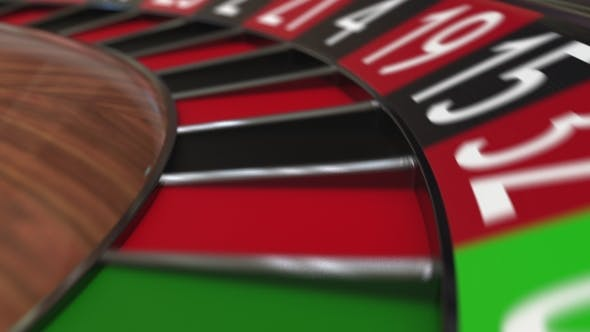 Thumbnail for Casino Roulette Wheel Ball Hits 5 Five Red