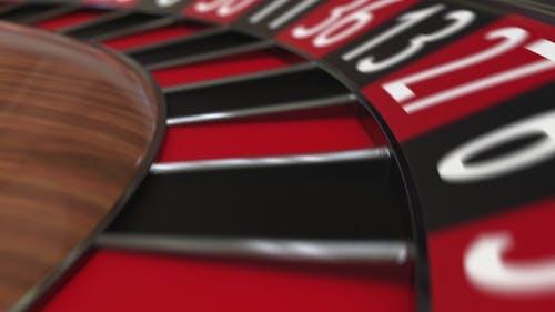 Casino Roulette Wheel Ball Hits 22 Twenty-two Schwarz