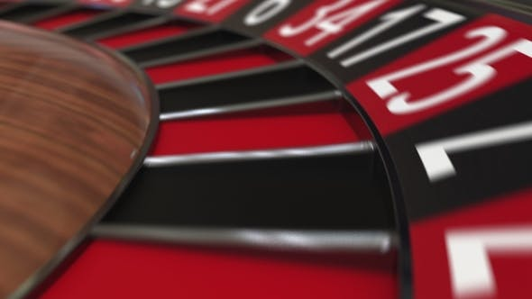 Thumbnail for Casino Roulette Wheel Ball Hits 30 Thirty Black