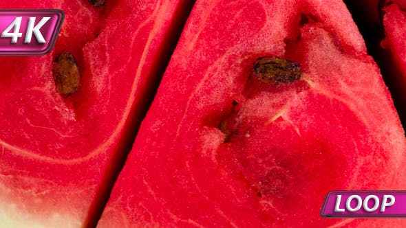 Slices Of Juicy Watermelon Rotate