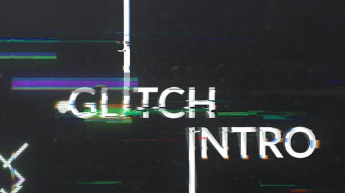 Geometric Glitch Logo Reveal