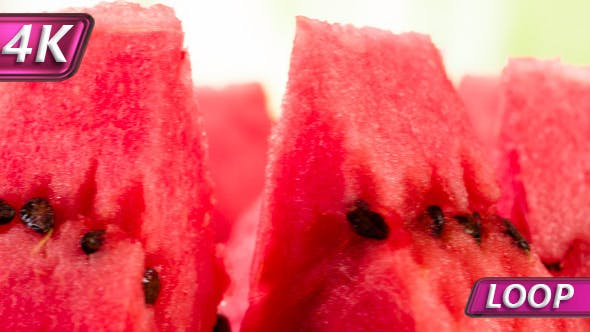 Thumbnail for Slices Of Watermelon On The Bright Background