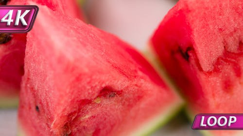 Juicy Triangular Pieces Of Watermelon