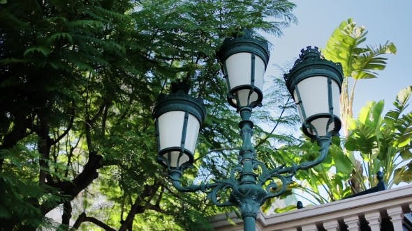 Thumbnail for Monaco City Town Monte Carlo Street Pillar with Lanterns