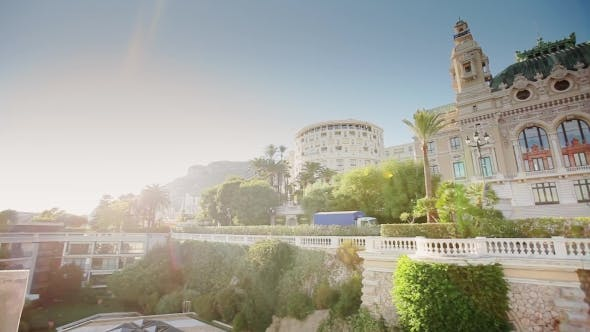 Thumbnail for Monaco City Town Monte Carlo Street Palm Sunny Day