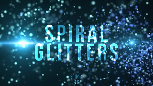 Thumbnail for Blue Spiral Glitters