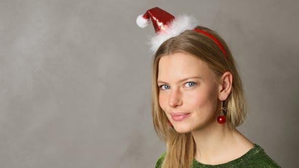 Thumbnail for Christmas Babe in Santa Hat