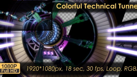 Thumbnail for Colorful Technical Tunnel