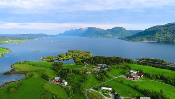 Thumbnail for Aerial Footage Beautiful Nature Norway