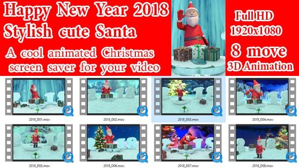 Thumbnail for Christmas Greetings New Year 2018