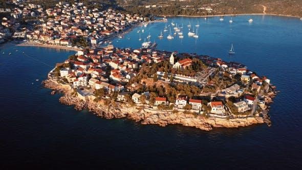 Thumbnail for Sunset Over Resort Adriatic Town Primosten, Croatia