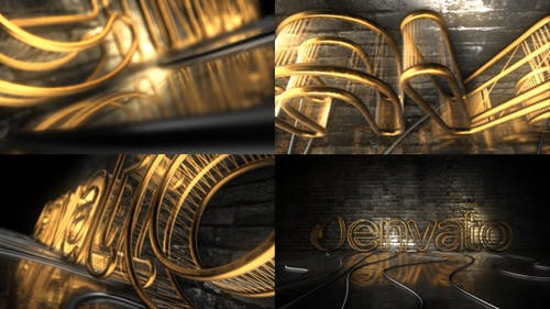 Dark Rejected Element 3D Logo Opener