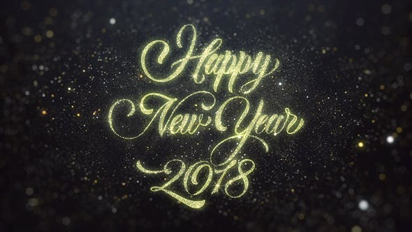 Thumbnail for Gold Happy New Year 2018 Greeting