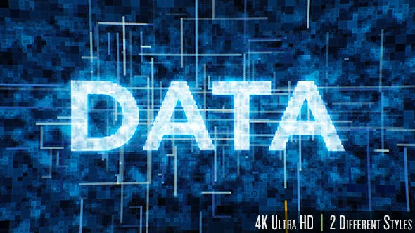 Thumbnail for Futuristic Data Typography 4K