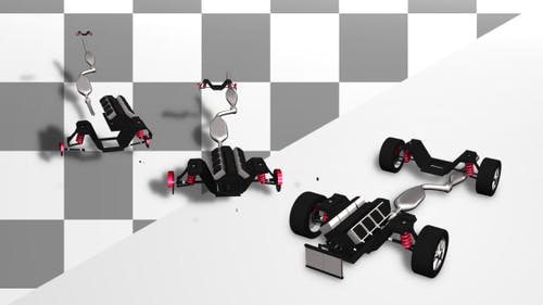 Car Assembling From Parts Without Body