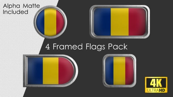 Thumbnail for Framed Romania Flag Pack