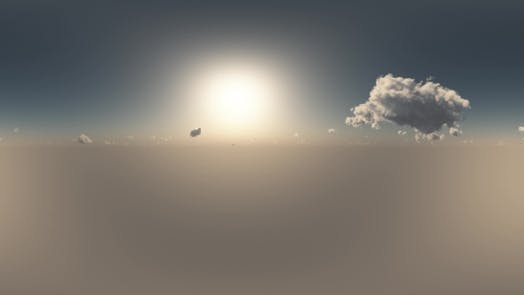 Thumbnail for VR 360 Degree Panorama of Sky And Clouds At Sunset