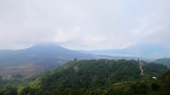 Thumbnail for View of the Lake and Volcano Batur. Bali