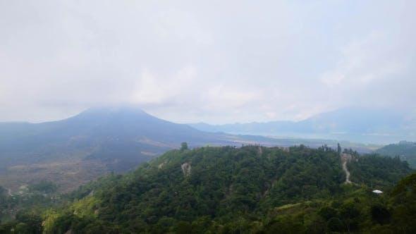 Thumbnail for View of the Lake and Volcano Batur. Bali