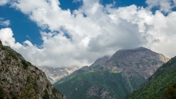 Thumbnail for of Clouds Above the Mountains in Sairamsu, Kazakhstan