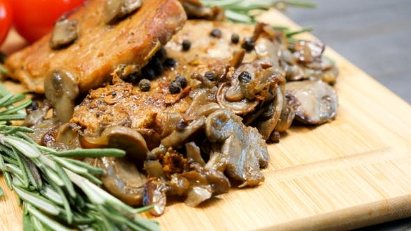 Thumbnail for Delicious Dinner From Cooked Pork Chops