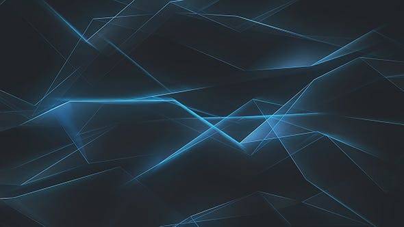 Thumbnail for Futuristic Glowing Edges Blue Polygonal Refraction