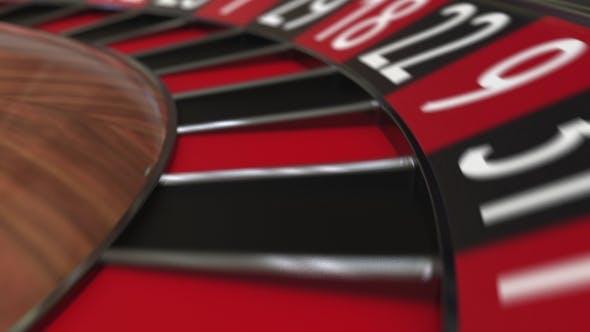 Thumbnail for Casino Roulette Wheel Ball Hits 25 Twenty-five Red