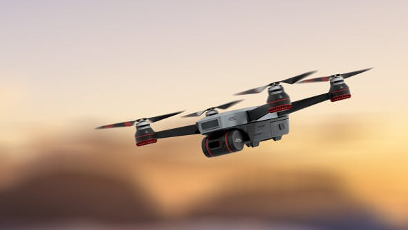 Thumbnail for Hovering Drone 3 Motions With Loop