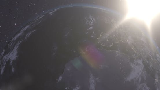 Spectacular Flight Away From Earth
