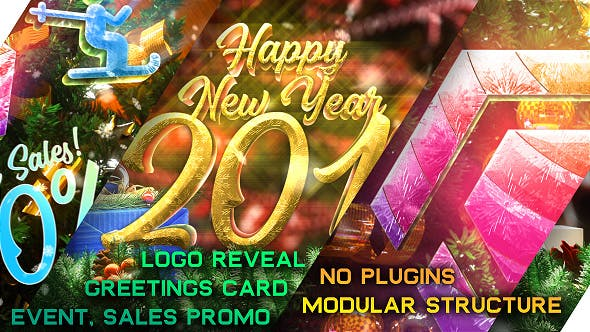 Thumbnail for New Year Pack - Logo Reveal, Sale and Event Promo