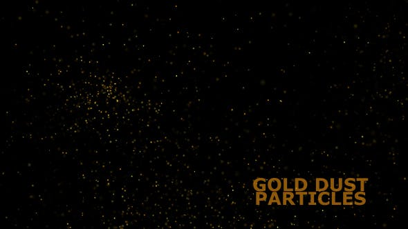 Gold Dust Particles Overlay V1