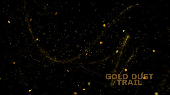 Gold Dust Particles Overlay V4