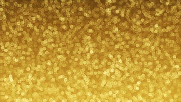Thumbnail for Golden Background of Bokeh Animation